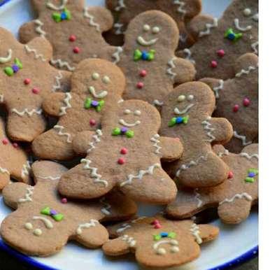 Sugar Cookies Shaped As Gingerbread Men