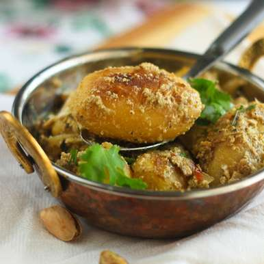 Dum Aloo recipe in Gujarati, ડુમ એલુ, Anamika Arun