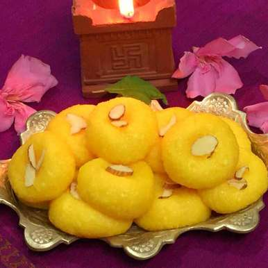 Photo of Custard flavoured Sandesh !! by Anjali Suresh at BetterButter