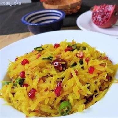 Photo of Raw Papaya and Pomegranate kachumber by Anjana Chaturvedi at BetterButter