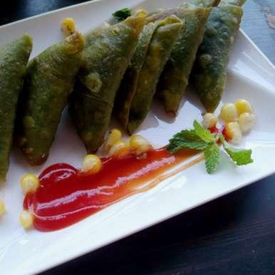 Photo of Spinach Cheese Corn Samosa  by Anjana Rao at BetterButter