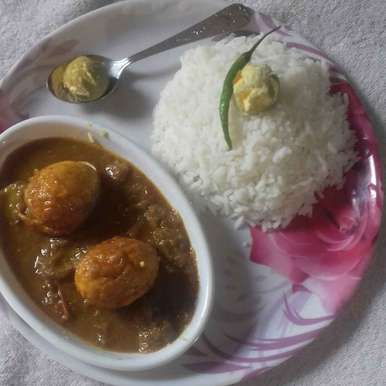 Photo of Egg curry with rice by Anjani Rajwar at BetterButter