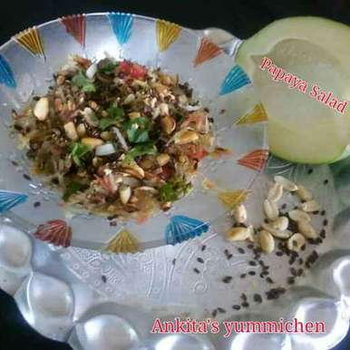 Photo of Raw papaya salad by Ankita Saxena at BetterButter