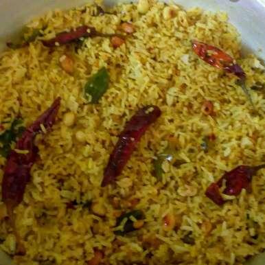 Mustard sesame tamarind rice recipe in Telugu,ఆవ పులిహొర, మొహనకుమారి jinkala