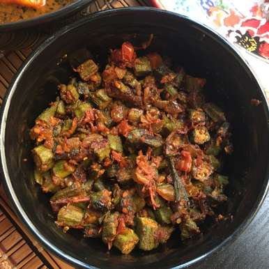 Photo of Tomatoes Bhendi Masala ( Spicy Tomatoes Lady's fingers ) by Antara Navin at BetterButter