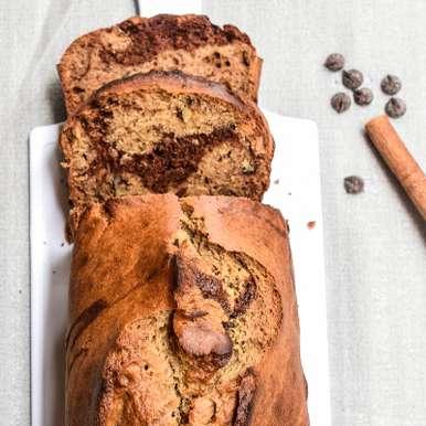 Photo of Healthy Marbled Chocolate Banana Bread by Antara Navin at BetterButter