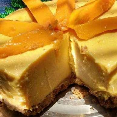 Photo of No bake mango cheese cake by Anu Lahar at BetterButter