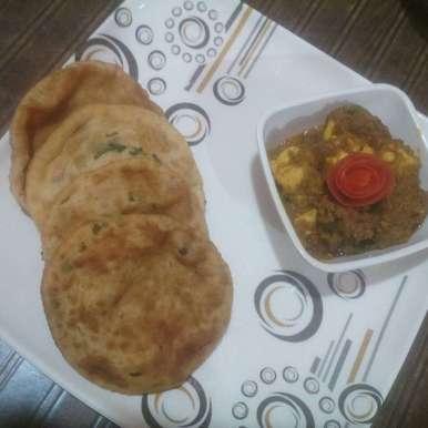 Photo of Paneer Shimla Lababdaar with flavoured Kachori by Anugya Arya at BetterButter