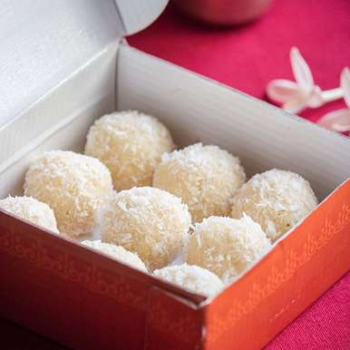 Photo of Coconut Ladoo / Indian Coconut Macaroon by Anupa Joseph at BetterButter