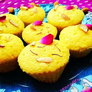 Photo of Cardamom and saffron cupcakes by Aparajita Dutta at BetterButter