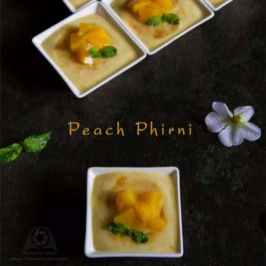 Photo of Peach Phirni by Aparna Bhat at BetterButter