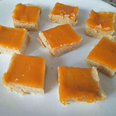 Narangi ke swadwali mava chhena barfi recipe in Hindi,नारंगी के स्वादवाली मावा छेना बर्फी, Archana Bhargava