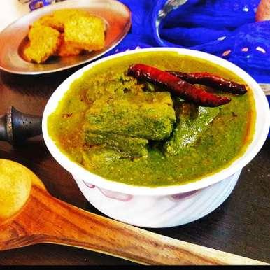 Photo of Sepu Vadi in Spinach Gravy by Archana Srivastav at BetterButter