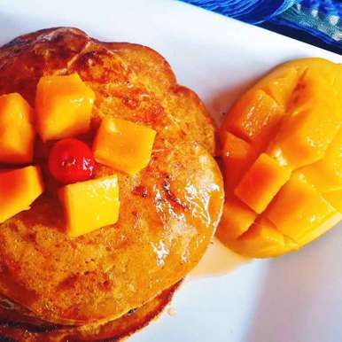 Photo of Eggless mango pan cake by Archana Srivastav at BetterButter