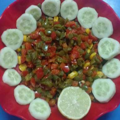 Photo of Capsicum(Bellpepper)Salad by Archana Vaja at BetterButter