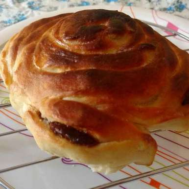 Photo of Chocolate rose bread bun by Archana Vaja at BetterButter
