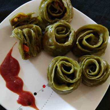 Photo of Carrot Methi Rose Momos by Asha Shah at BetterButter