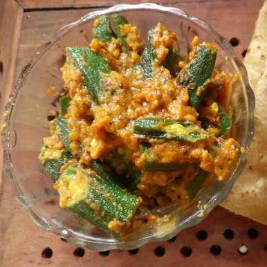 Photo of Bhindi Masala Gravy with No onion and no Garlic  by Ashvini Singh at BetterButter