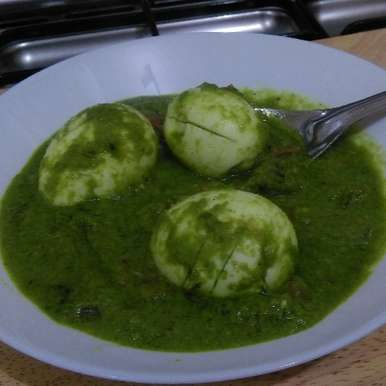 Photo of Egg green gravy by Asiya Omar at BetterButter