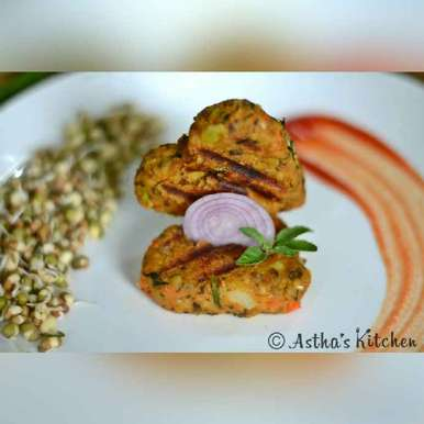 Photo of SPROUTED MOONG , OATS AND VEGGIE KABAB/ TIKKI /CUTLETS by Astha Mahajan at BetterButter