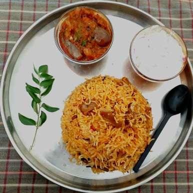 Photo of Muslim style mutton biryani by Athilakshmi Maharajan at BetterButter
