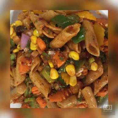 Photo of Pasta salad with Home made Dressing by Avani Desai at BetterButter