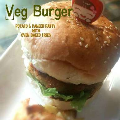 Photo of Veg Burger(Potato-Paneer Patty) and  Oven Baked Fries by Avin Kohli at BetterButter