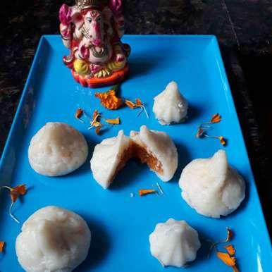 Photo of Mango rabdi filled Modak by Babita Jangid at BetterButter