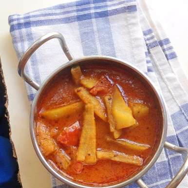 Photo of Raw Banana Curry |  Kancha Kadali Tarakari | Recipe from Orissa by Babitha Costa at BetterButter