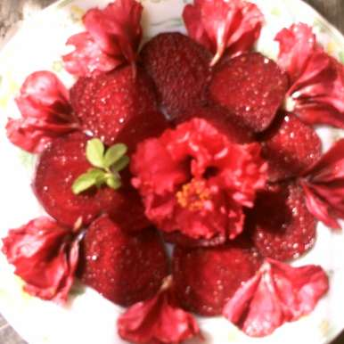 Photo of Beet root salad with hibiscus flower by Bapi Mondal at BetterButter