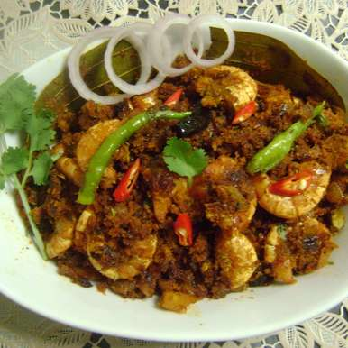 Photo of Chingri Narkel Stir Fry (Prawn-Coconut Stir Fry - Bengali Style) by Bethica Das at BetterButter