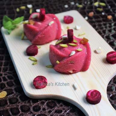 Photo of Beetroot Semolina Halwa / Pudding by Bethica Das at BetterButter