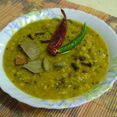 Photo of Tetor Dal (Bitter Gourd - Green Gram Lentil Curry - Bengali Style) by Bethica Das at BetterButter