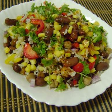 Photo of Mexican Bean Salad with Brown Rice & Bell Peppers by Bethica Das at BetterButter