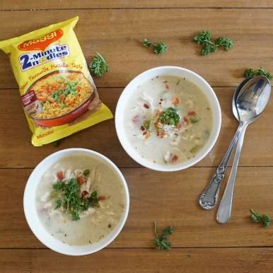 Photo of Chicken and Maggi noodle Soup by BetterButter Editorial at BetterButter
