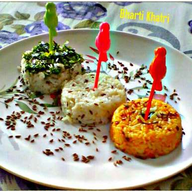 Photo of Leftover chaval/tricolour jeera rice by Bharti Khatri at BetterButter