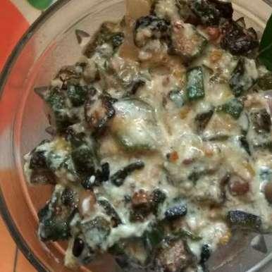 ladys finger curd gravy recipe in Tamil,வெண்டைக்காய் தயிர் பச்சடி, Bhavani Murugan
