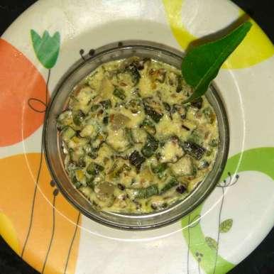 Ladys finger curd curry recipe in Tamil,வெண்டைக்காய் தயிர் பச்சடி, Bhavani Murugan
