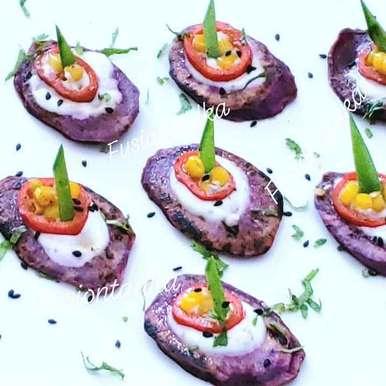 Photo of Purple Sweet Potato Bruschetta by Bhavisha Talati at BetterButter