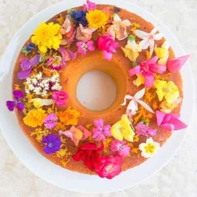 Photo of Flowery Citrus Cake by Bhavita Singh at BetterButter