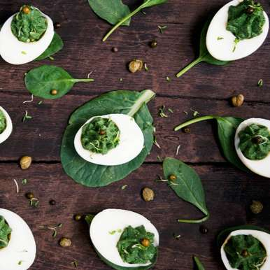 Photo of Green Deviled Eggs by Bhavita Singh at BetterButter