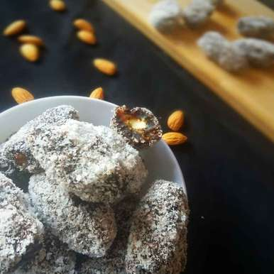 Photo of Stuffed dates chocolate with coconut by Bhumika Gandhi at BetterButter