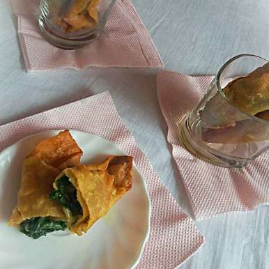 Photo of Spinach cheese cigar by Bhumika Gandhi at BetterButter