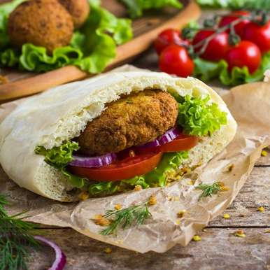 Photo of Lebanese Falafel stuffed Pitas by Bindiya Sharma at BetterButter