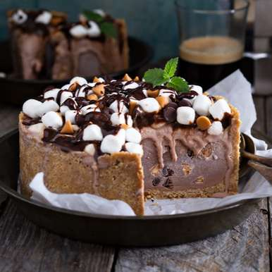 Photo of Rocky Road Ice cream Cake by Bindiya Sharma at BetterButter