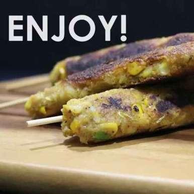 Photo of Potato Corn Seekh by Bobby Kochar at BetterButter