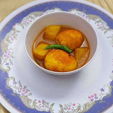Egg Curry recipe in Bengali,ডিমের ঝোল, Chanda Shally