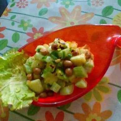 Kakri  apple salad with peanuts, How to make Kakri  apple salad with peanuts