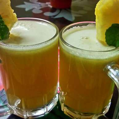 Photo of Pineapple mocktail by Chandu Pugalia at BetterButter