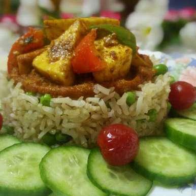 Photo of Brown rice with paneer tikka by Chandu Pugalia at BetterButter